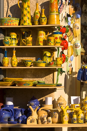 Europe, France, Provence, Moustiers-Ste-Marie, souvenir shop