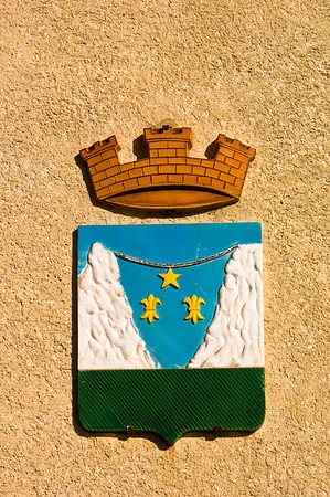 Europe, France, Provence, Moustiers-Ste-Marie, coat of arms
