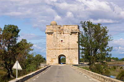 Europe, France, Provence, Camargue, Tour Carbonniere near Aigues-Mortes