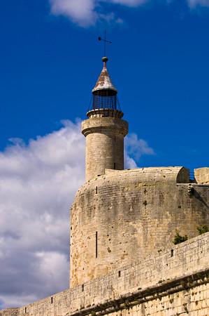 Europe, France, Provence, Camargue, Aigues-Mortes, defence walls
