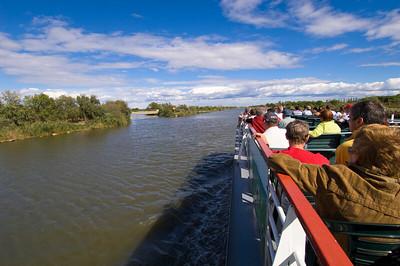 Europe, France, Provence, Camargue, Aigues-Mortes, canal cruise into Camargue