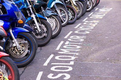 parking space for motor cycles, London, United Kingdom