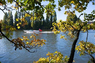 Autumn by Thames River, Barnes, SW13, London, United Kingdom