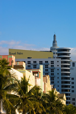United States Of America, Florida, Miami, South Beach, architecture on Ocean Drive