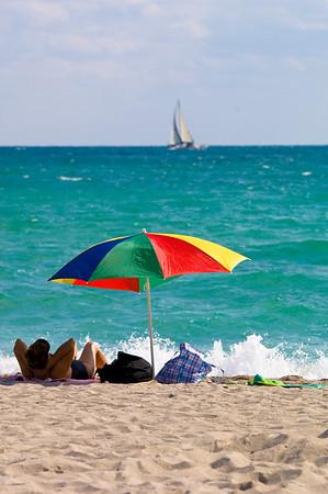 United States Of America, Florida, Miami, South Beach, beach