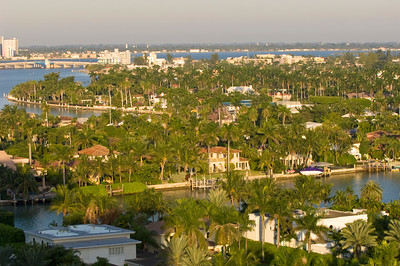 United States Of America, Florida, residential development by Indian Creek, Biscayne Bay