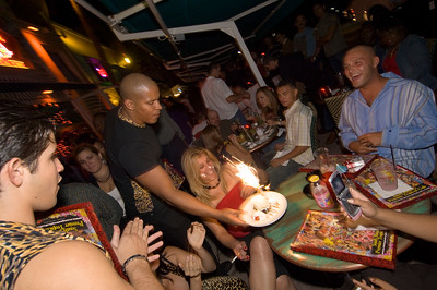 United States Of America, Florida, Miami Beach, Ocean Drive, birthday party