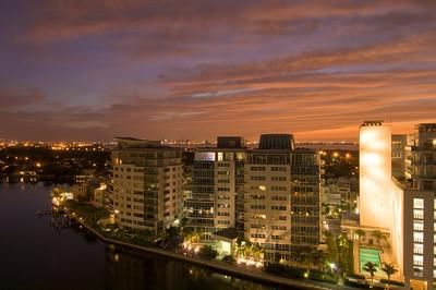 United States Of America, Florida, Miami Beach, new development  along Indian Creek
