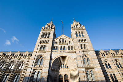 Front facade of Natural History Museum, London, United Kingdom