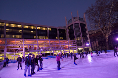 Ice Rink by Natural History Museum in winter season, London, United Kingdom