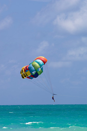 Beach, parasailing, South Beach, Miami, Gold Coast, Florida, United States of America