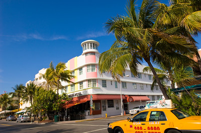 Art Deco architecture on Ocean Drive, South Beach, Miami, USA