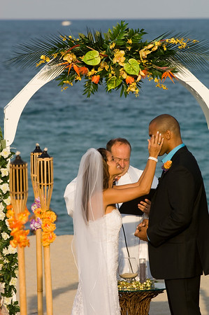Wedding on a beach in late afternoon, Fort Lauderdale, wedding on a beach, Gold Coast, Florida, United States of America