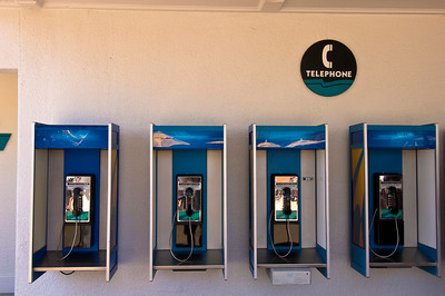 Phone-booth, Seaworld theme park, Orlando, Florida, United States of America