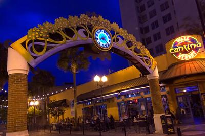 Downtown at night, Orange Avenue, Florida, United States of America