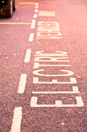 Parking space for electric cars, London, United Kingdom