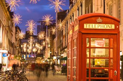 People shopping Christmas time , South Molton Street, W1, London, United Kingdom