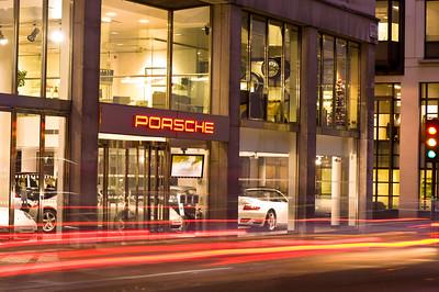Porsche car showroom in Mayfair, London, United Kingdom