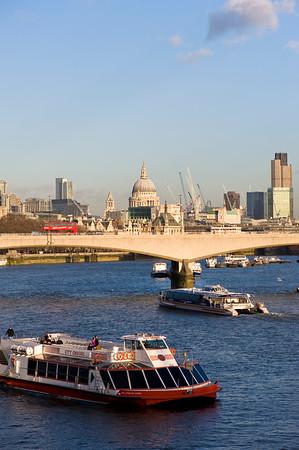 Waterloo Bridge over Thames River, London, United Kingdom