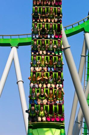 Incredible Hulk roller-coaster, Universal Studios, Orlando, Florida, United States of America