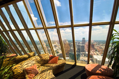 """View of Downtown from """"Manuel's"""" on 26th floor of Bank of America Building, Orlando, Florida, United States of America"""