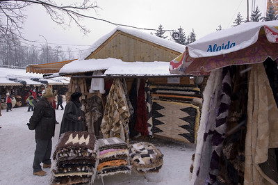 Local market selling traditional souvenirs and local products, Zakopane, Tatra Mountains, Podhale Region, Poland