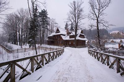 Villa Koliba in traditional wooden architecture, Zakopane, Tatra Mountains, Podhale Region, Poland
