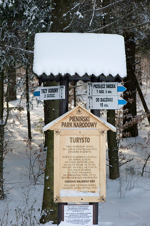 Entrance to Pieniny National Park, Tatra Mountains, Podhale Region, Poland