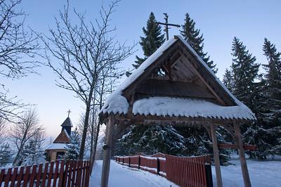 Wooden church on Gubalowka Hill, Zakopane, Tatra Mountains, Podhale Region, Poland