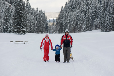 People hiking and strolling in Scenic and picturesque Dolina Koscieliska, Zakopane, Tatra Mountains, Podhale Region, Poland