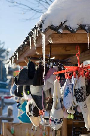 Souvenir stall on Gubalowka Hill, Zakopane, Tatra Mountains, Podhale Region, Poland