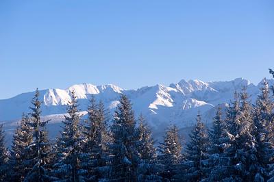 View of Gubalowka Hill, Zakopane, Tatra Mountains, Podhale Region, Poland