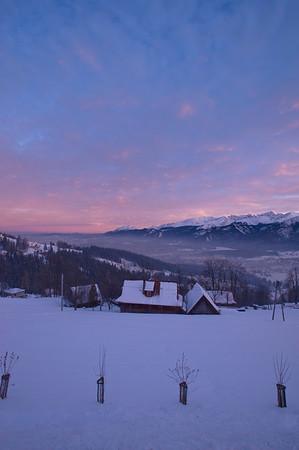 Snow covered Zakopane, Tatra Mountains, Podhale Region, Poland