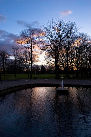 Dramatic sky at sunset over Walpole Park, Ealing, W5, London, United Kingdom