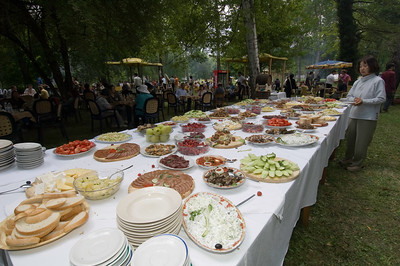Europe, Bulgaria, Valley Of The Roses, Kazanluk, Festival Of the Roses, Kazanluk is a capital of the rose growing region in between Balkan Range and the Sredna Gora Tourists are entertain by folk dance and music and food