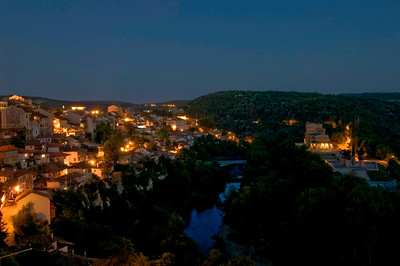 Europe, Bulgaria, Veliko Tarnovo, general view by night