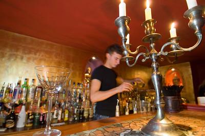 Poland, Cracow, Budda Bar, modern drinking bar on Rynek Glowny