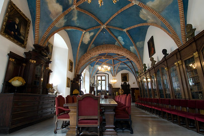 Poland, Cracow, Collegium Maius of Jagiellonian University; Library