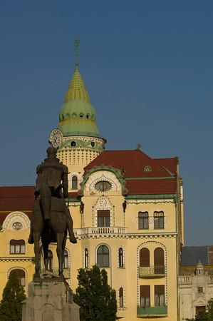 Secessionist style architecture on Piata Unirii, Oradea, The Ban