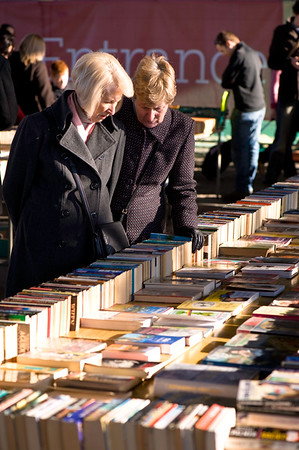 Secondhand bookshop on South Bank, London, United Kingdom