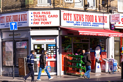 Shops on Uxbridge Road, Shepherds Bush, W12, London, United Kingdom