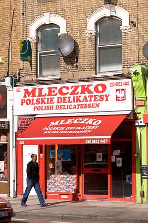 Polish Shop on Uxbridge Road, Shepherds Bush, W12, London, United Kingdom