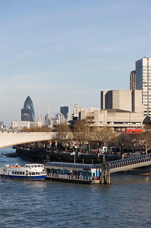 Thames River and Waterloo Bridge, London, United Kingdom