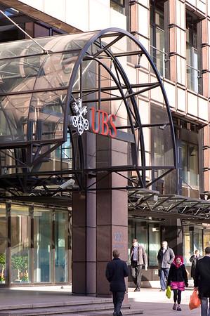 UBS bank in EC2, London, United Kingdom