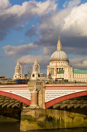 St Pauls Cathedral and Thames River, London, United Kingdom
