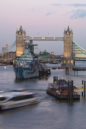 Tower Bridge and Thames River, London, United Kingdom