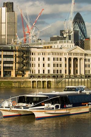 Thames Clipper on Thames River, London, United Kingdom
