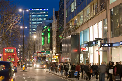 People shopping on Oxford Street, London, United Kingdom