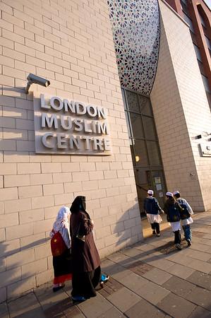 East London Mosque on Whitechapel Road, London, United Kingdom