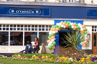 O'Neil's Pub decorated for St Patrics Day, London, United Kingdom